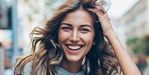 Young woman with gorgeous healthy smile